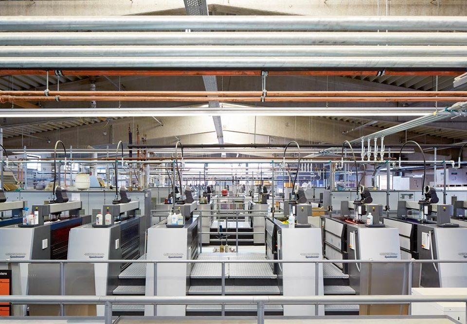 Maschinenpark bei den Onlineprinters