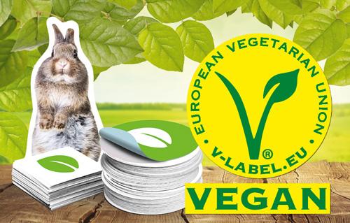 Vegane Aufkleber Drucken Garantiert Und Zertifiziert
